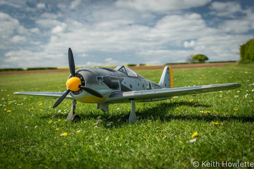 FW190A with 3D printed spinner
