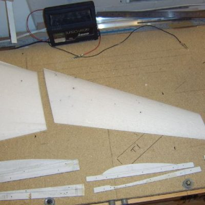 vc10 wings with hot wire templates