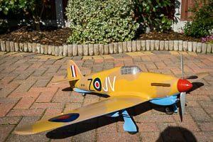RC Hawker Hurricane built with a Hot Wire CNC foam cutter
