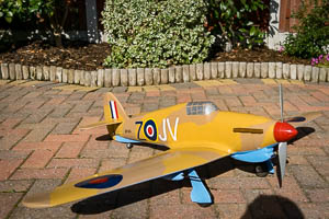 RC Hawker Hurricane built with a Hot Wire CNC foam cutter
