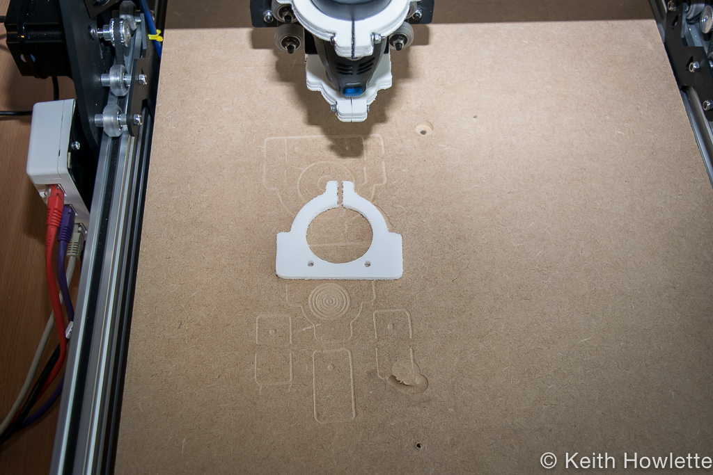 ox cnc router first part made