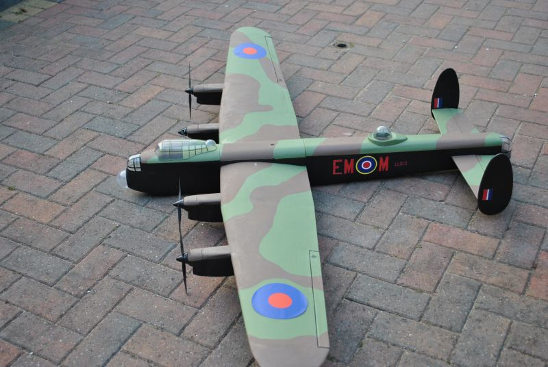 Lancaster side view 72 inch winspan