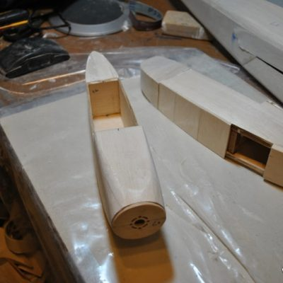 Nacelles one sanded and one glued up read for sanding