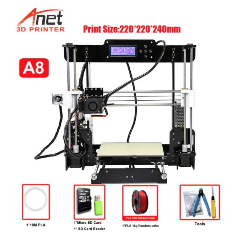 anet a8 cheap 3d printer