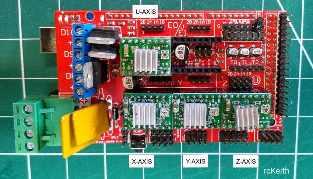 Arduino Mega 2560 4 axis