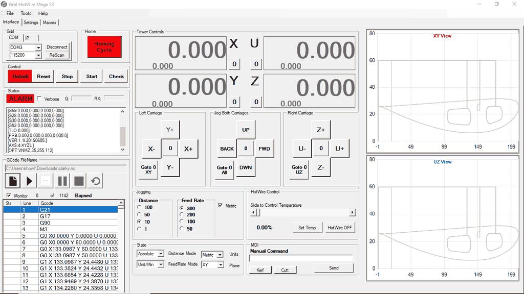 GRBL HotWire Mega 5X for CNC Foam Cutters
