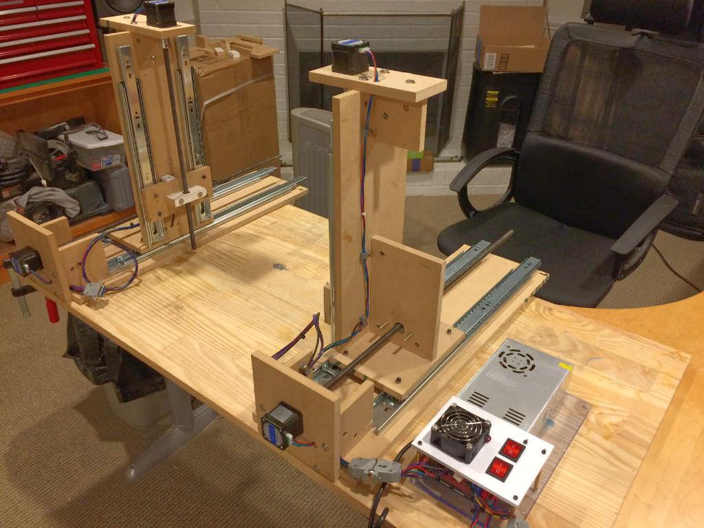 cnc foam cutter built from plans